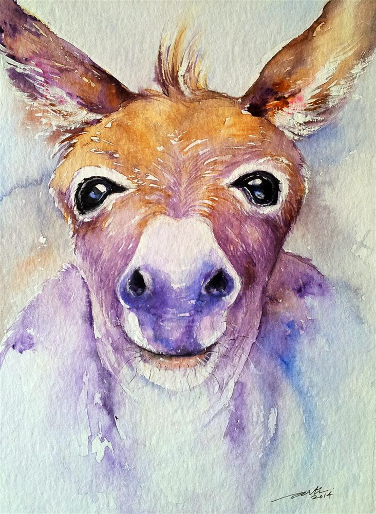 """Look into my Eyes"" original fine art by Arti Chauhan"