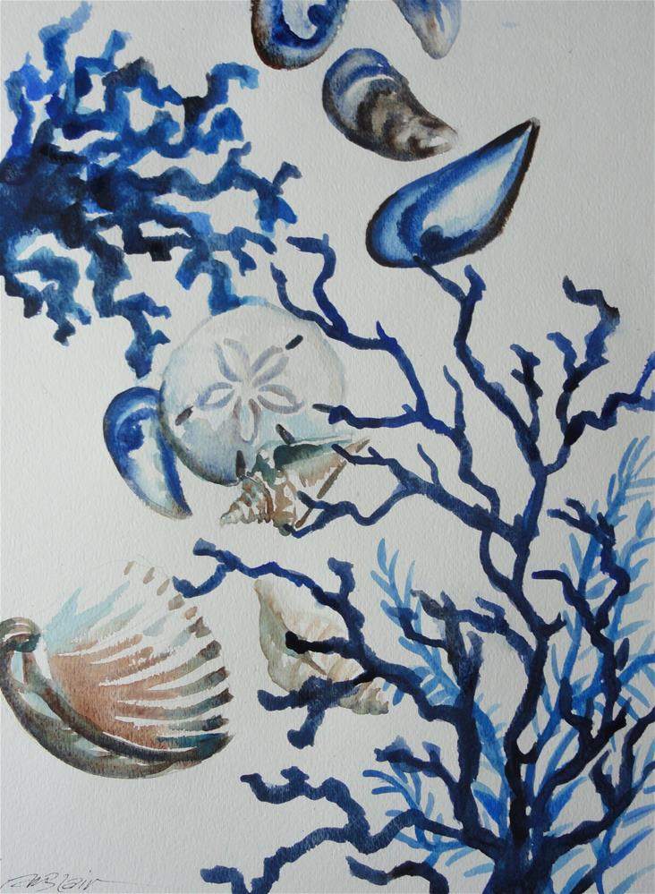 """Ocean Blue #1"" original fine art by Christine Blain"
