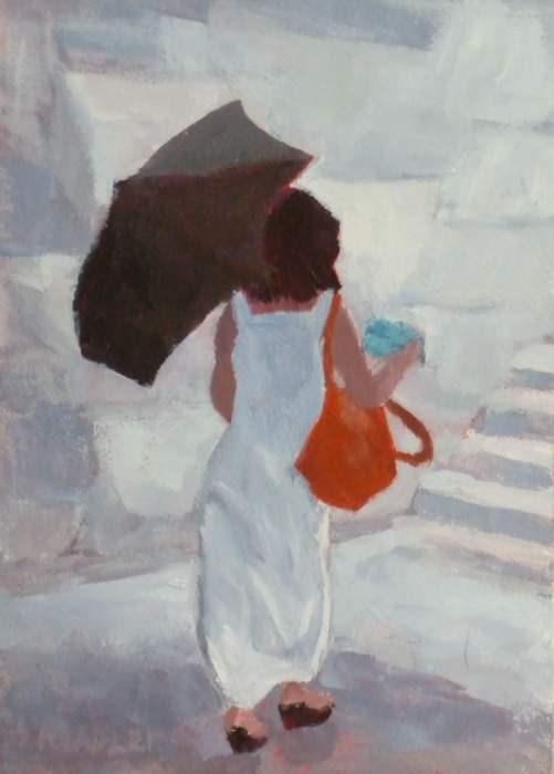 """Into the Light"" original fine art by Meredith Adler"