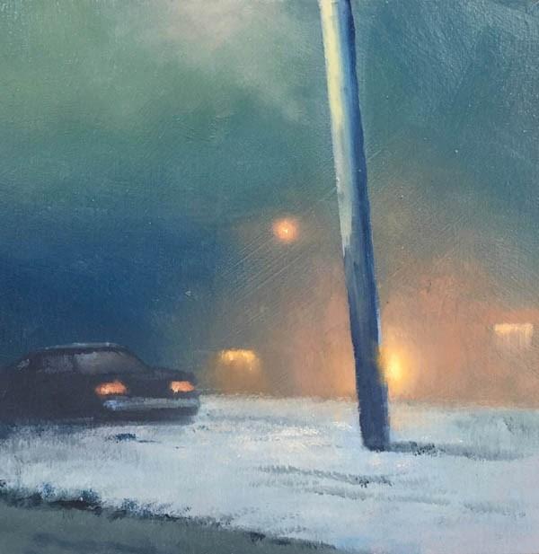 """""""SNOWBOUND"""" original fine art by Gerald Schwartz"""