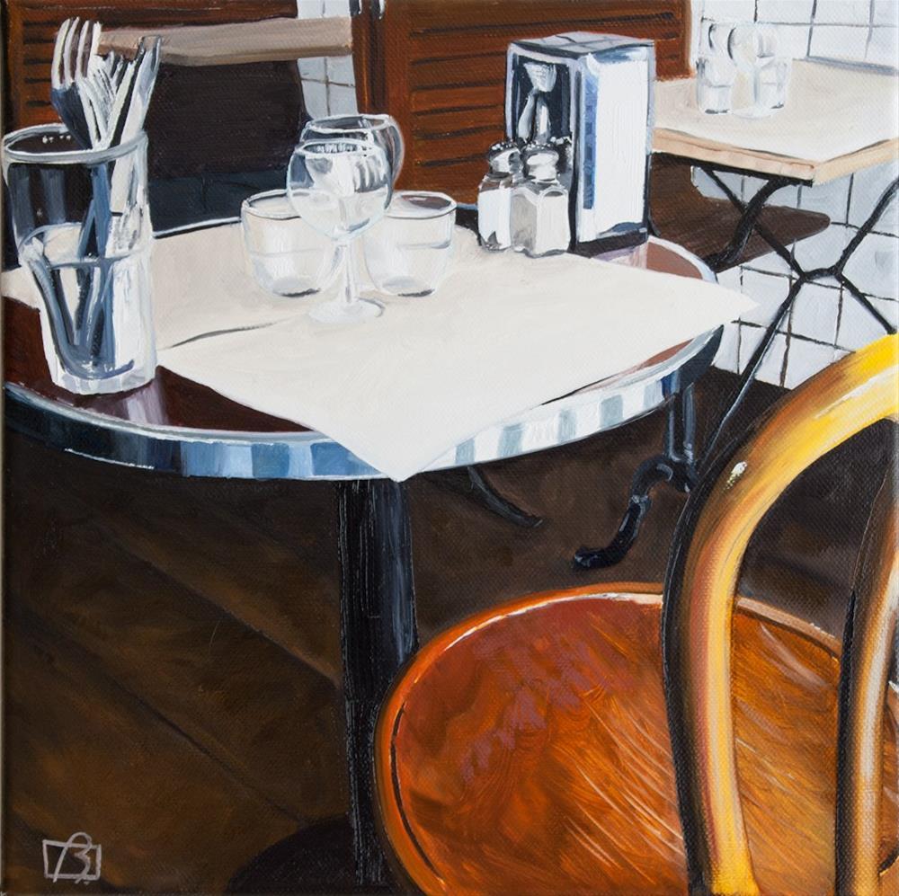 """Cafe on rue Cler Deux"" original fine art by Andre Beaulieu"
