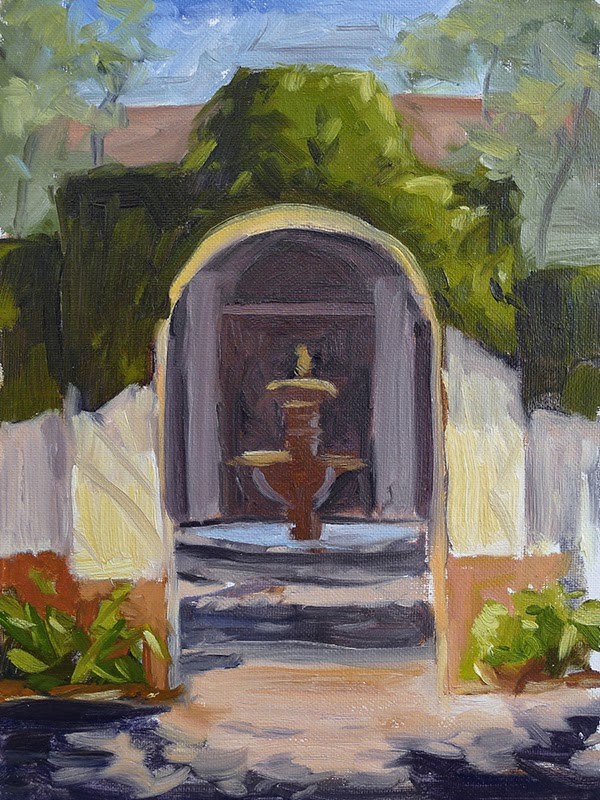 """No. 236 - Sea Island Courtyard"" original fine art by Adam Houston"