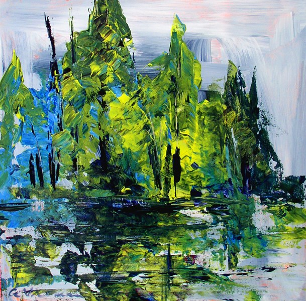 """Spruce Swamp"" original fine art by Anna Vreman"