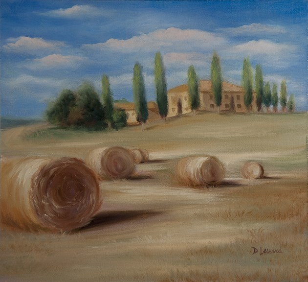 """Toscana #1111"" original fine art by Dee Lessard"