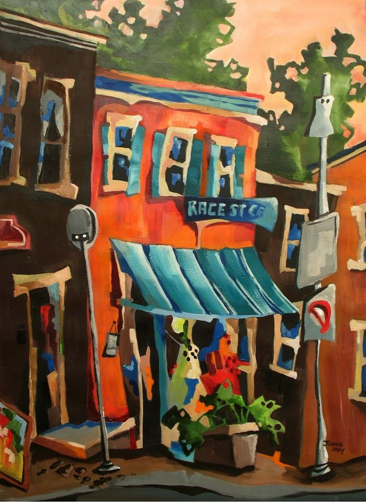 """Race Street Cafe"" original fine art by Jinnie May"
