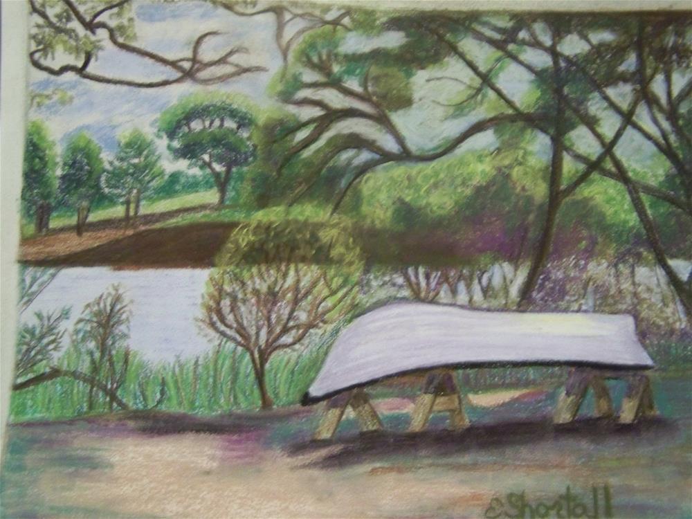 """Waiting"" original fine art by Elaine Shortall"