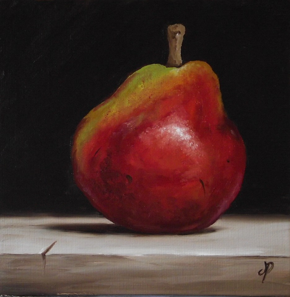 """Red Anjou Pear"" original fine art by Jane Palmer"