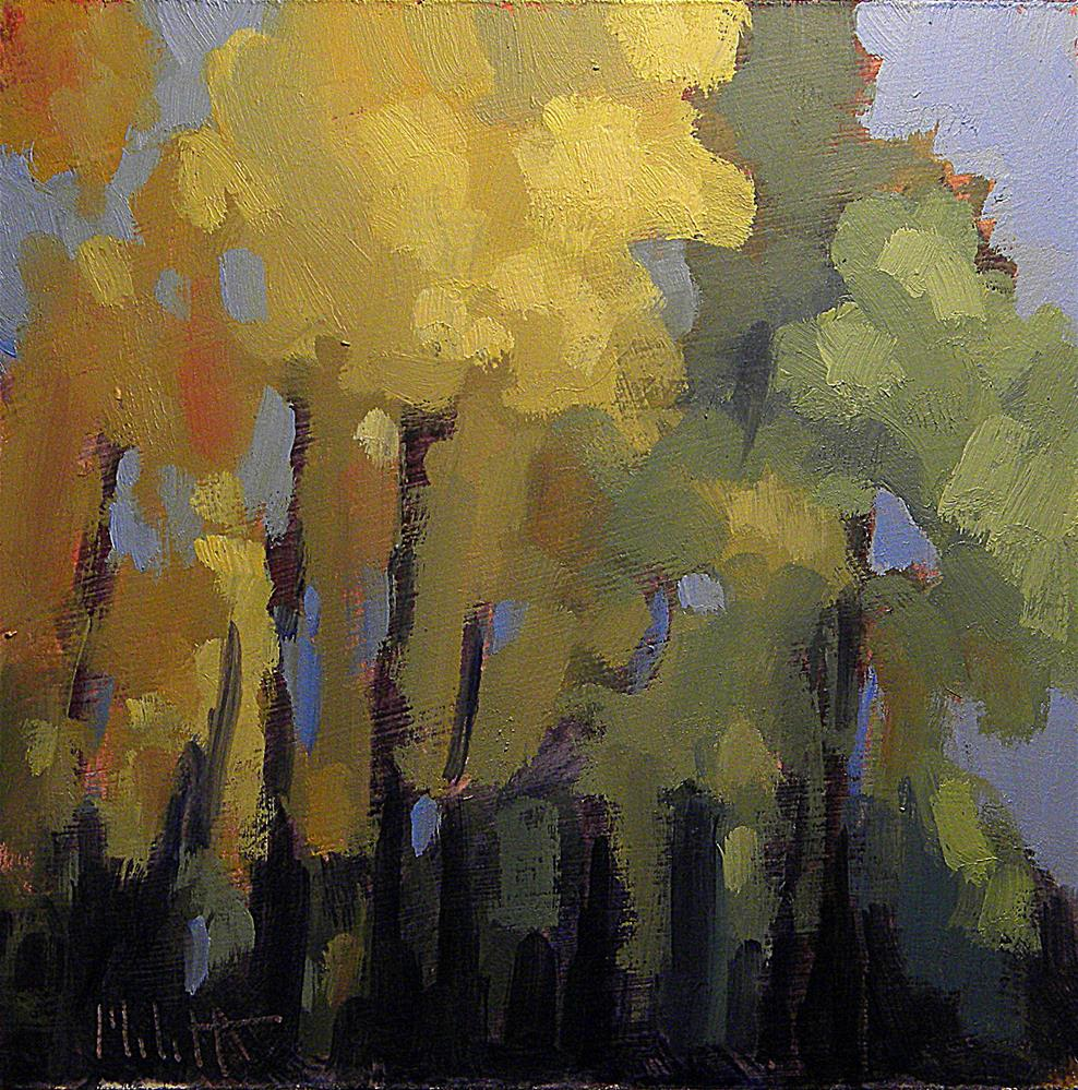 """Contemporary Autumn Landscape Heidi Malott"" original fine art by Heidi Malott"
