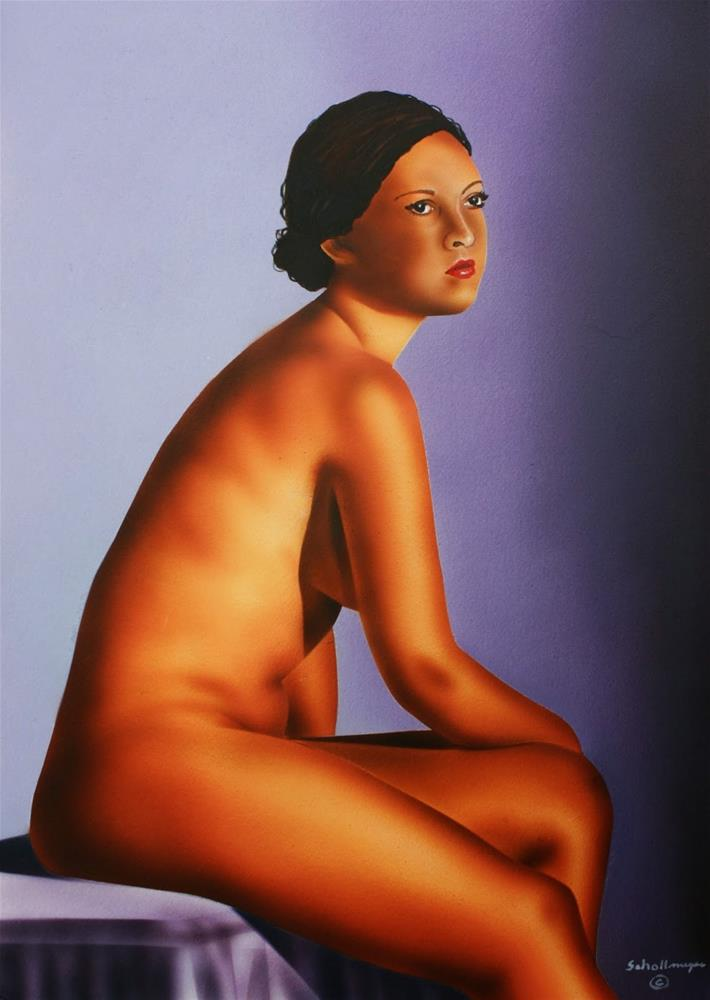 """Seated Nude"" original fine art by Fred Schollmeyer"