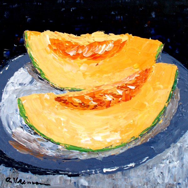 """Cantaloupe"" original fine art by Anna Vreman"