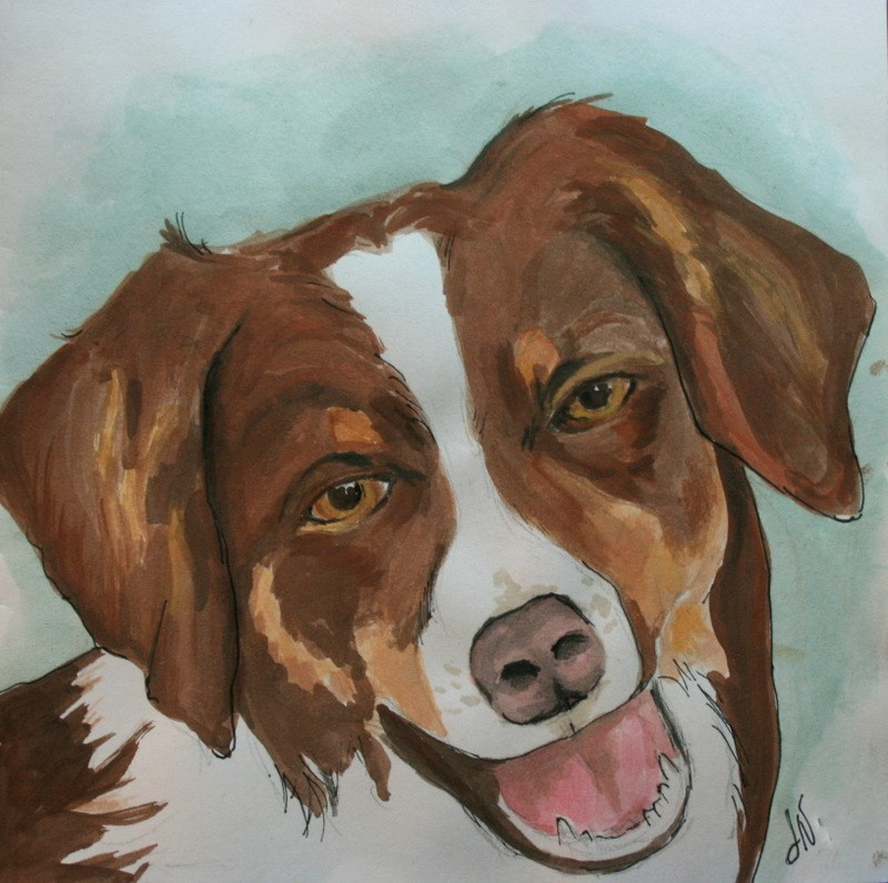 """Roscoe"" original fine art by Jean Nelson"