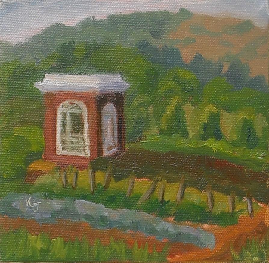 """Tom's Garden"" original fine art by Kathy Johnson"