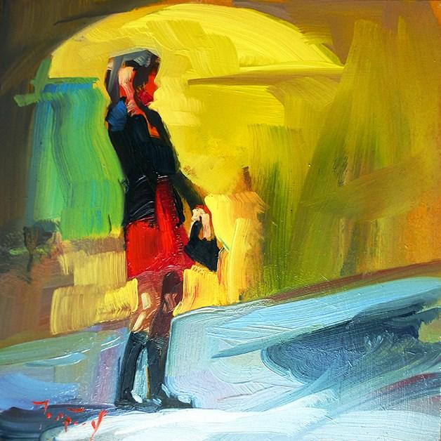 """Rote Rock"" original fine art by Jurij Frey"