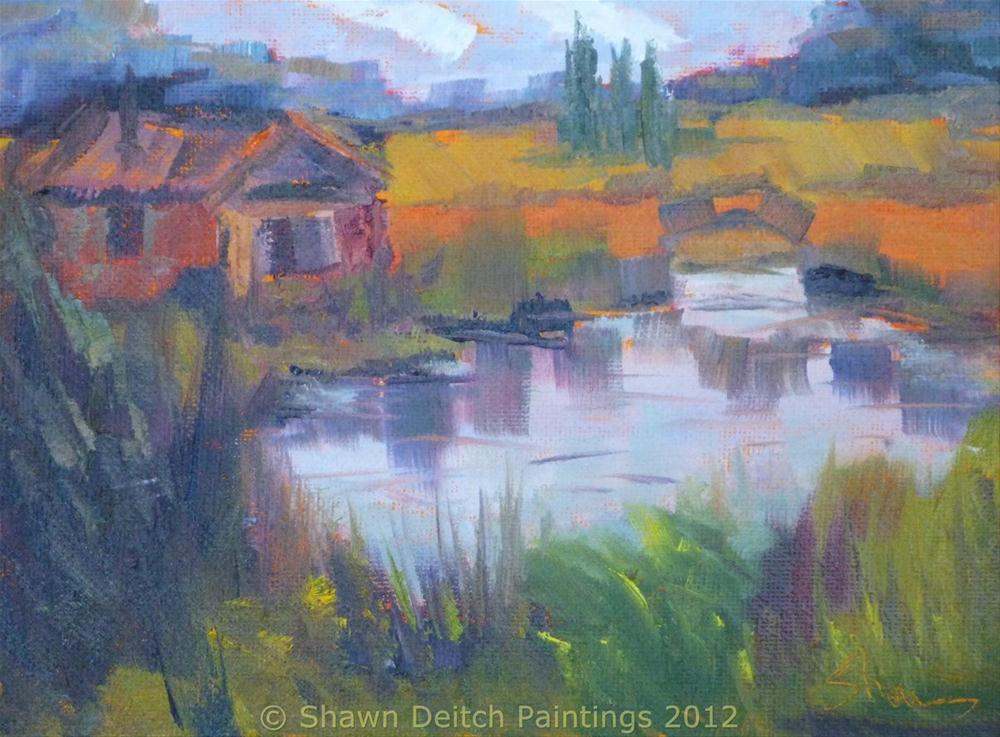 """""""Werling Pond"""" original fine art by Shawn Deitch"""