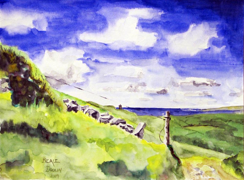 """Doolin Countryside"" original fine art by  David Beale"