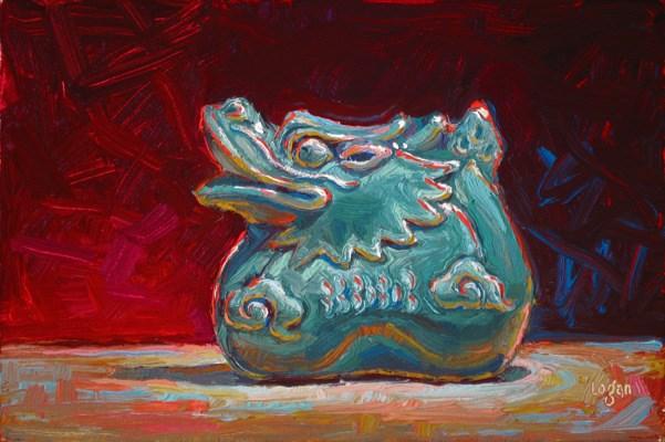 """Ceramic Dragon"" original fine art by Raymond Logan"