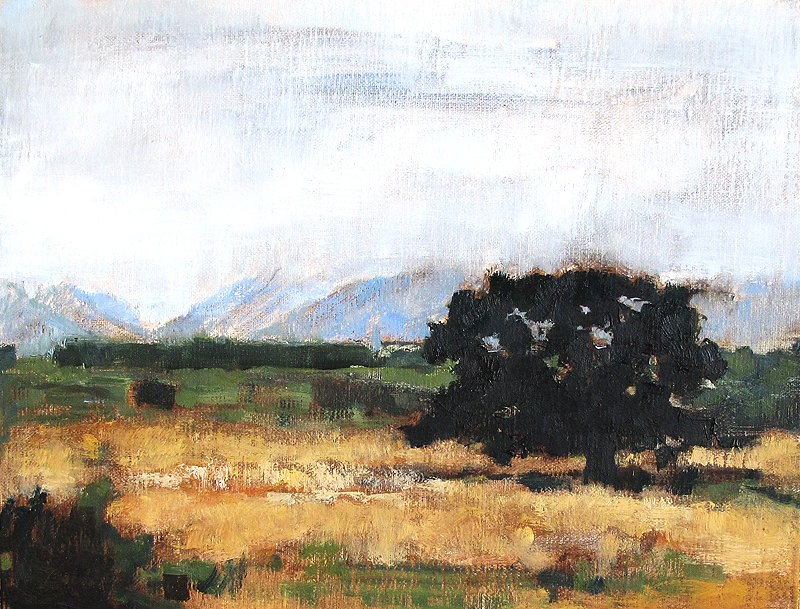 """Fog in the Hills, Santa Barbara"" original fine art by Kevin Inman"
