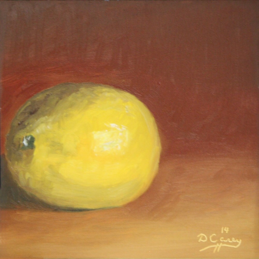 """Kitchen Painting - Lemon 002"" original fine art by Dave Casey"