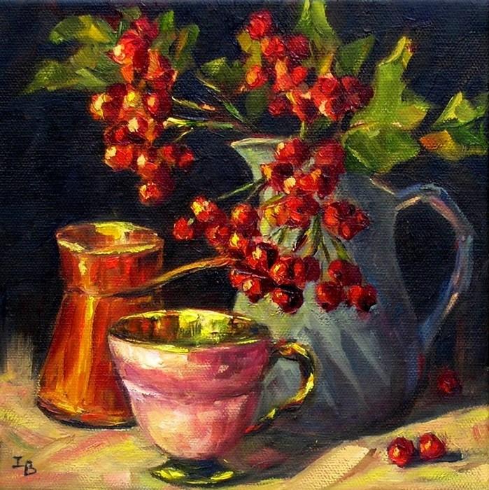 """Autumn Nocturne 2"" original fine art by Irina Beskina"