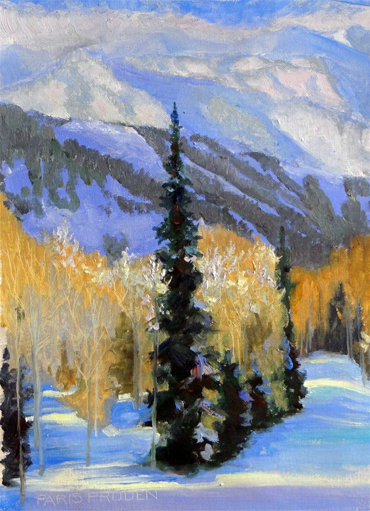 """Snowy Trail"" original fine art by Nancy Paris Pruden"