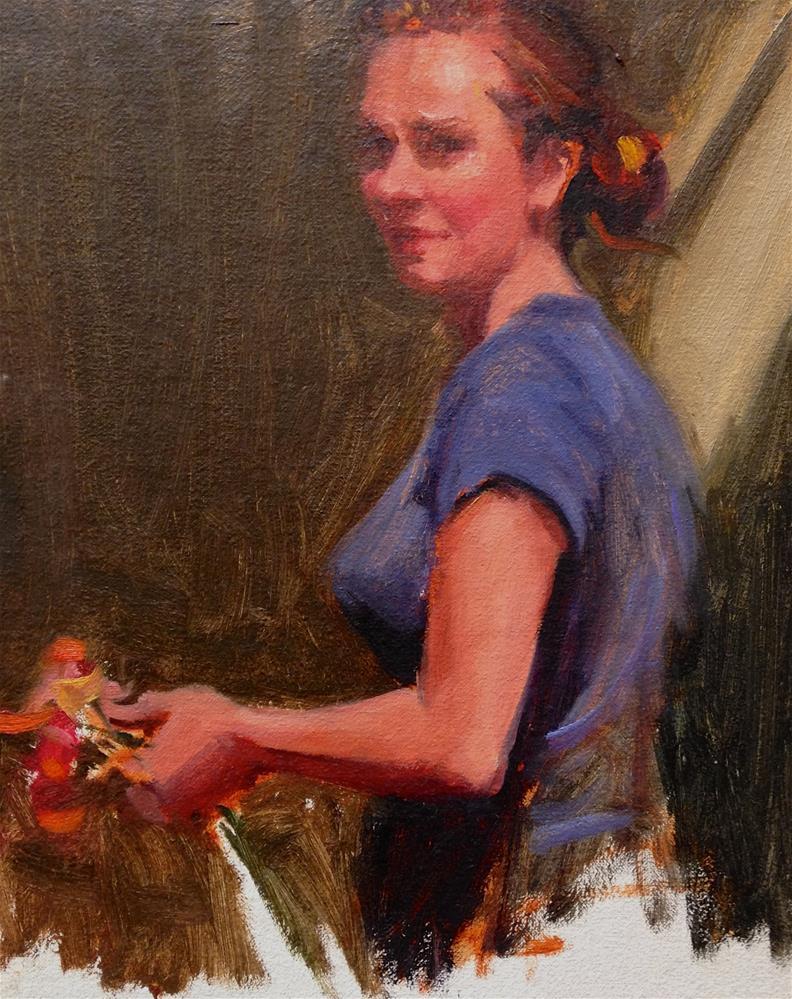 """Flowers for the table"" original fine art by Laurie Johnson Lepkowska"