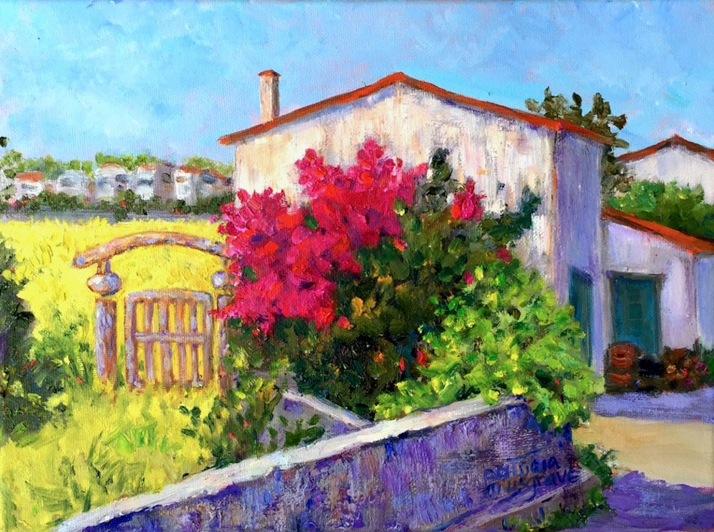 """The Old Gate"" original fine art by Patricia Musgrave"