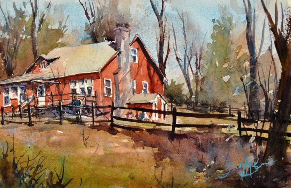 """Grandpa Brown's House"" original fine art by Brienne M Brown"