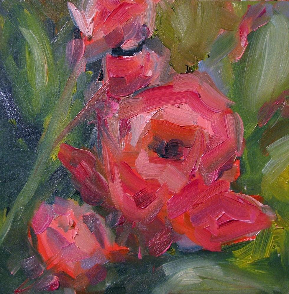 Stewart Street Roses original fine art by Susan E Jones
