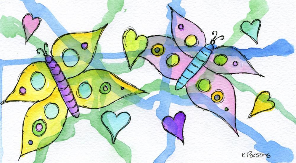 """""""Butterfly Love"""" original fine art by Kali Parsons"""