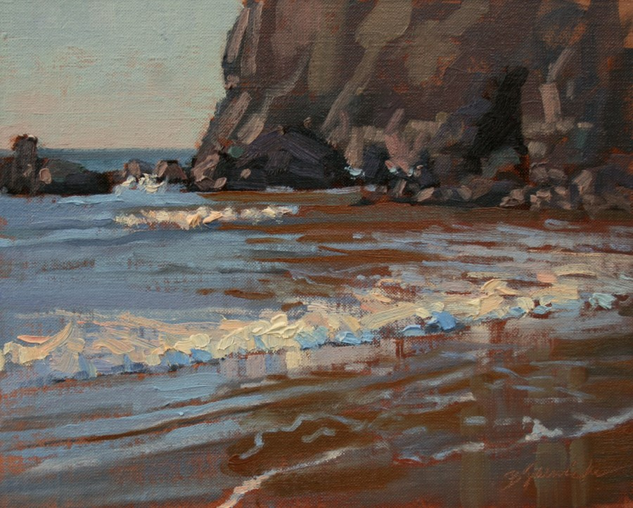 """Rocks and Ocean Study 2"" original fine art by Barbara Jaenicke"