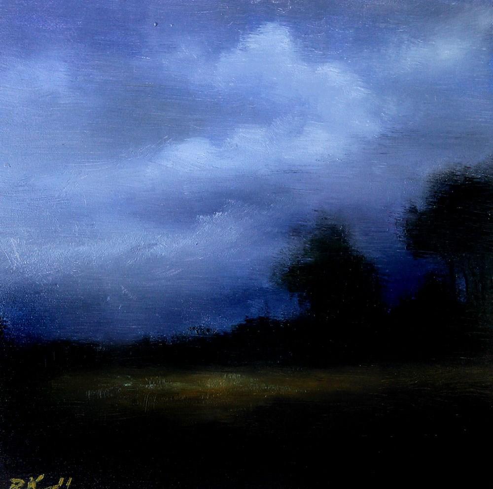 """Desert Twilight"" original fine art by Bob Kimball"