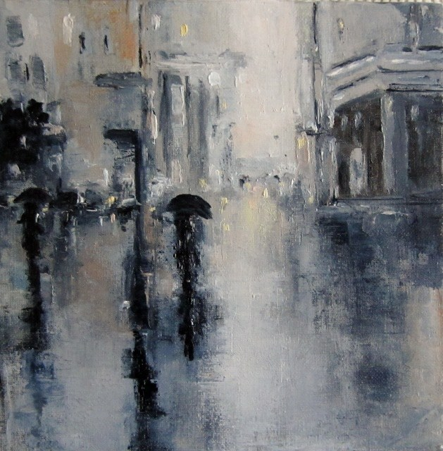 """A new rainy day"" original fine art by Astrid Buchhammer"