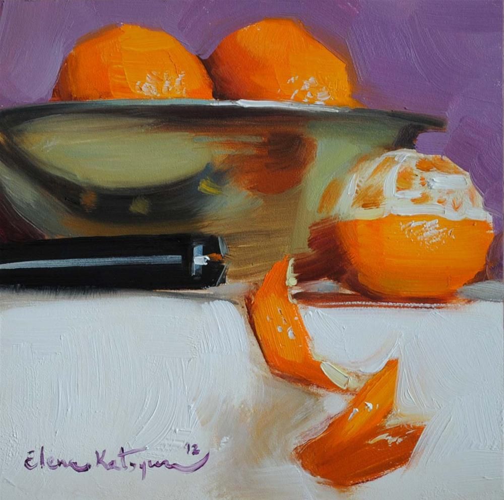 """Mandarin Bowl"" original fine art by Elena Katsyura"