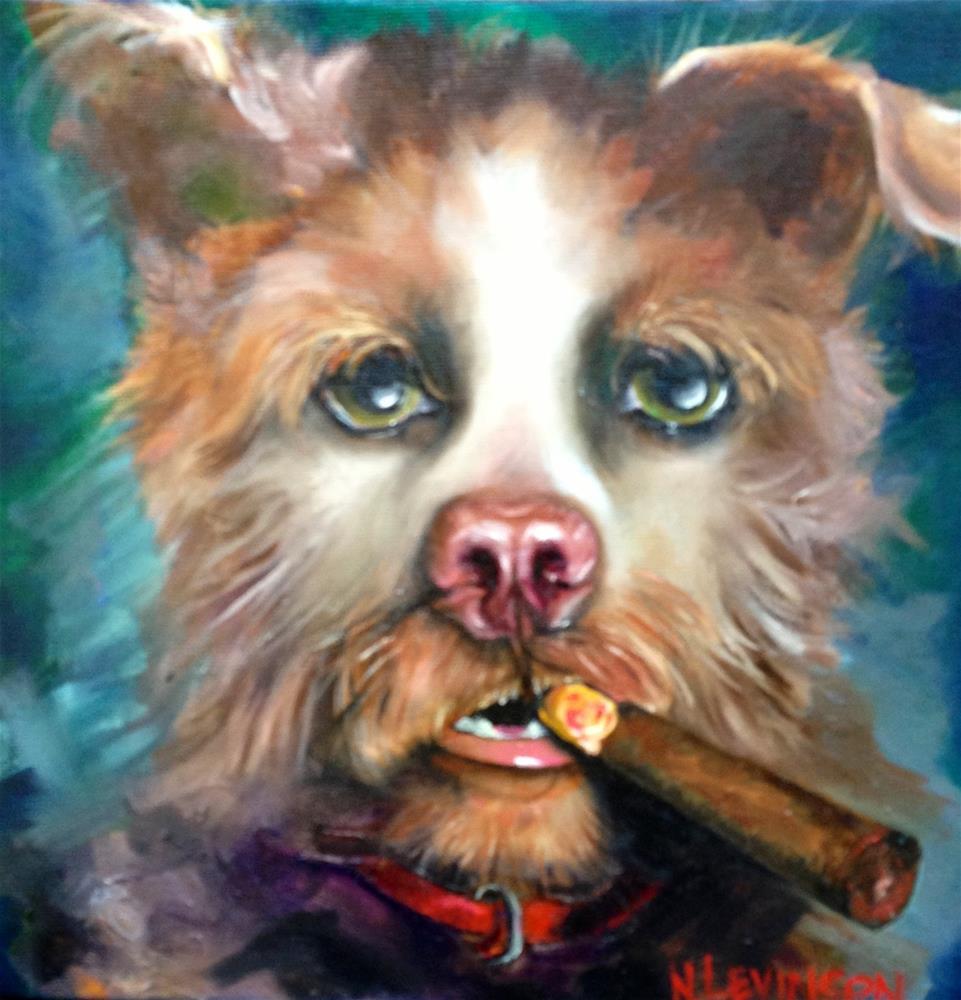 """DUDE !"" original fine art by Nancy Levinson"