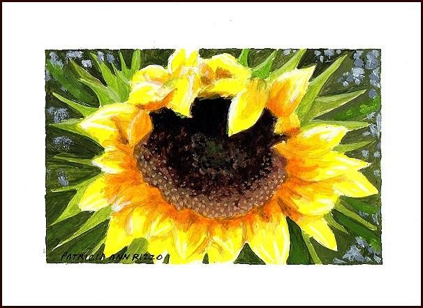 """""""Sunflower!"""" original fine art by Patricia Ann Rizzo"""