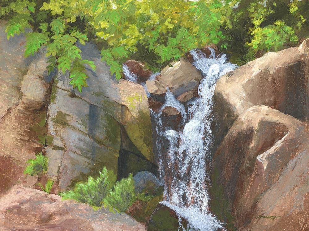 """Spring Runoff"" original fine art by Jeanne Strohrmann"
