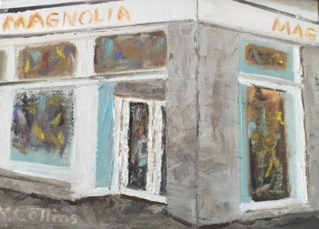 """Magnolia Bakery"" original fine art by Kathy Collins"