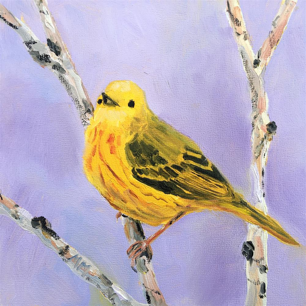 """Yellow Warbler"" original fine art by Maria McNitt"
