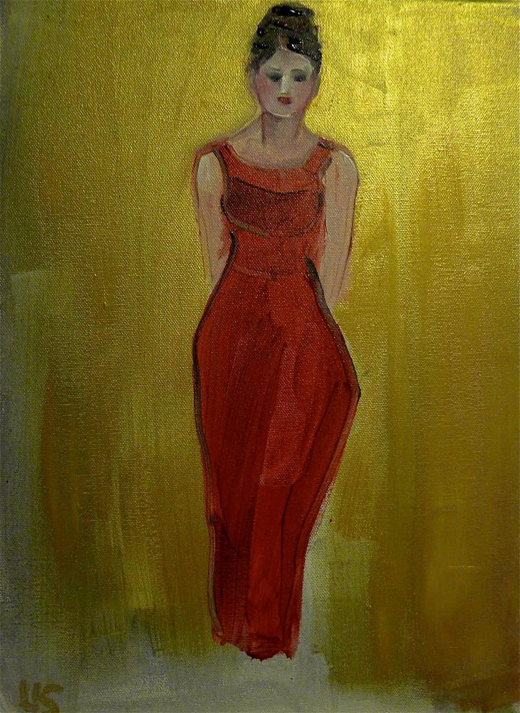"""The red dress"" original fine art by Ulrike Schmidt"