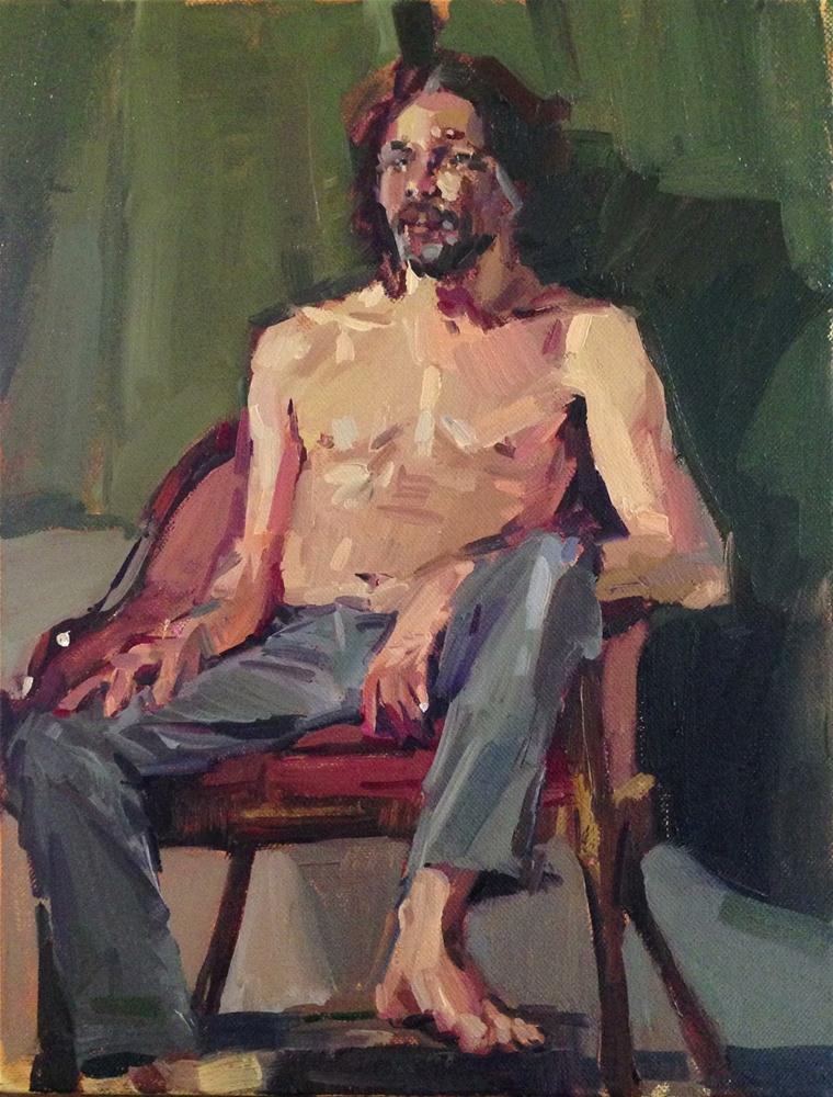 """Shirtless Man"" original fine art by Sarah Sedwick"