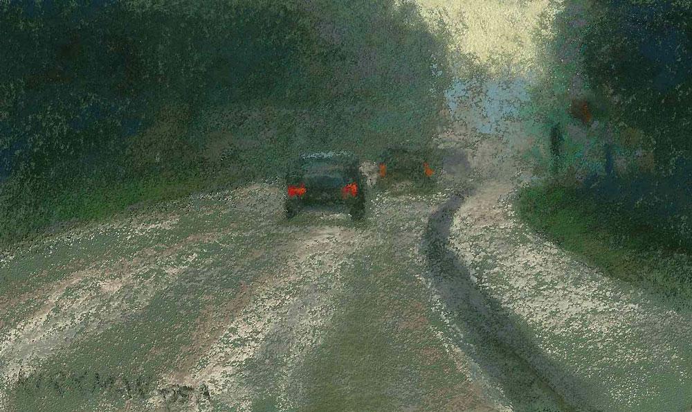 """Road Sketch 22"" original fine art by Rita Kirkman"