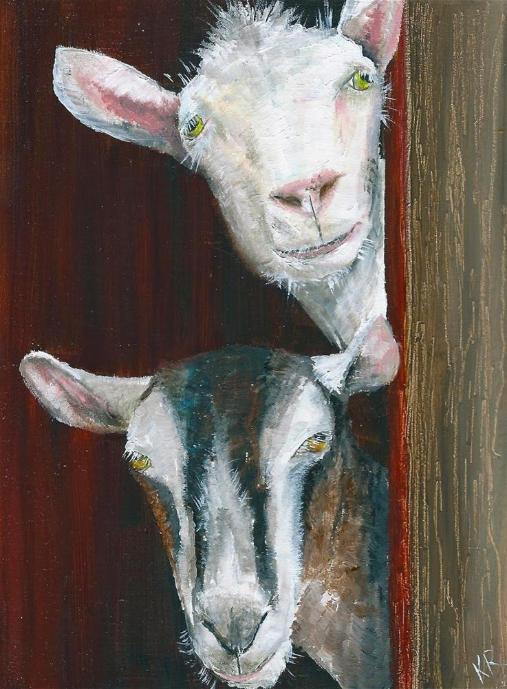 """Two of a kind (2)"" original fine art by Karen Robinson"