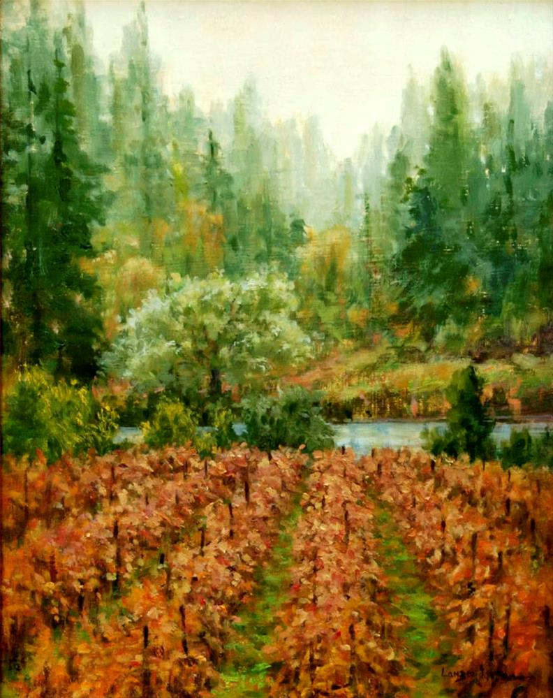 """MISTY VINEYARD"" original fine art by Dj Lanzendorfer"