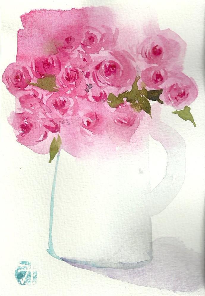"""""""10月"""" original fine art by Midori Yoshino"""