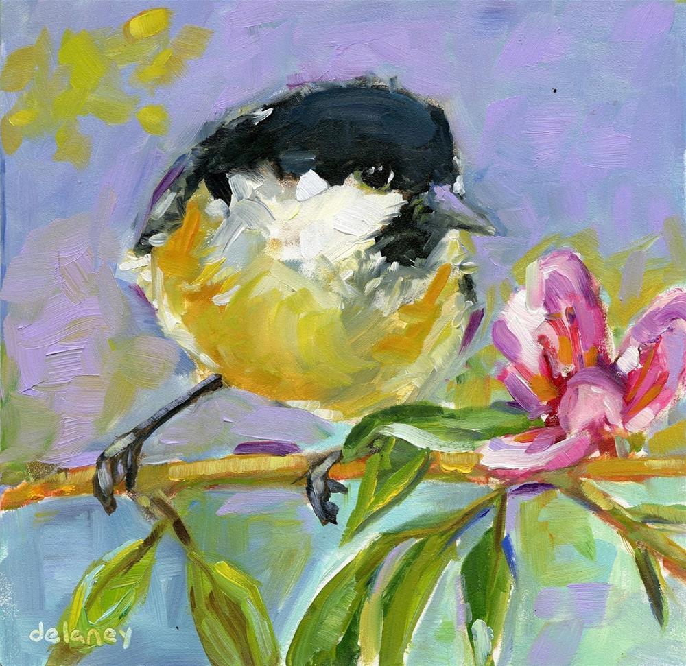 """""""BIRD DAY"""" original fine art by Jean Delaney"""