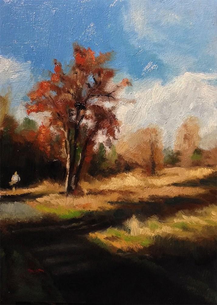 """""""Cooper Mountain Run"""" original fine art by Chris Beaven"""
