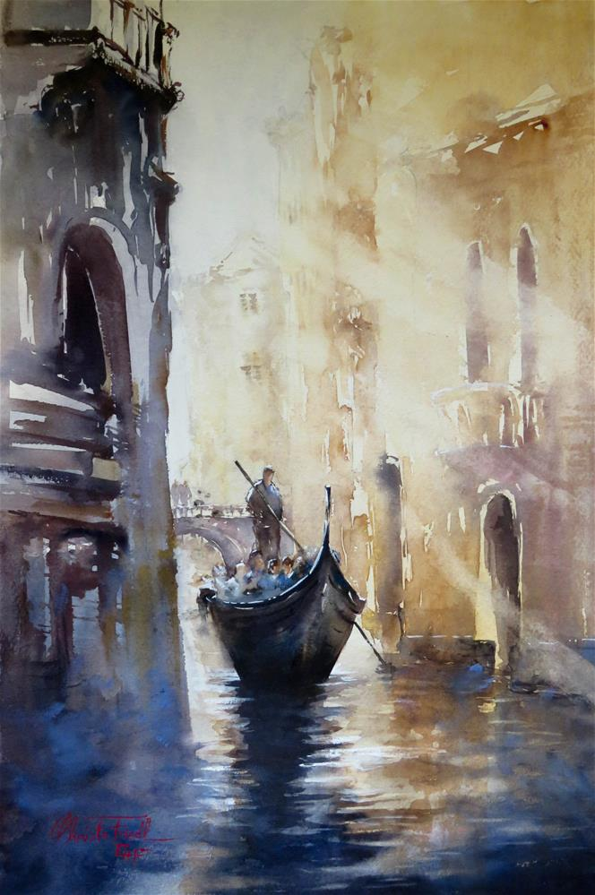 """Canal in Venice, Italy"" original fine art by Christa Friedl"