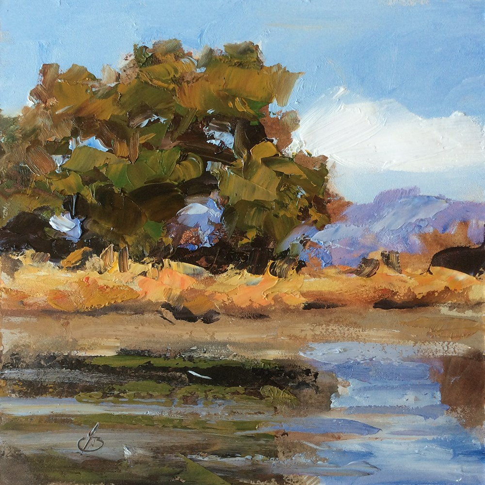 """""""LAKESIDE REFLECTIONS"""" original fine art by Tom Brown"""