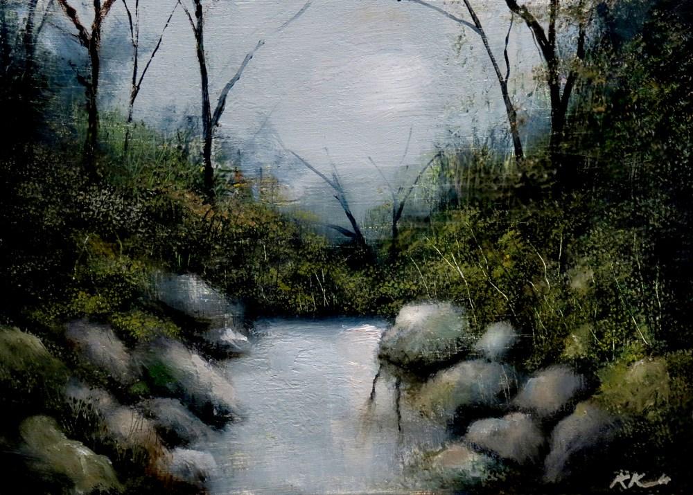 """""""Hidden Stream"""" original fine art by Bob Kimball"""