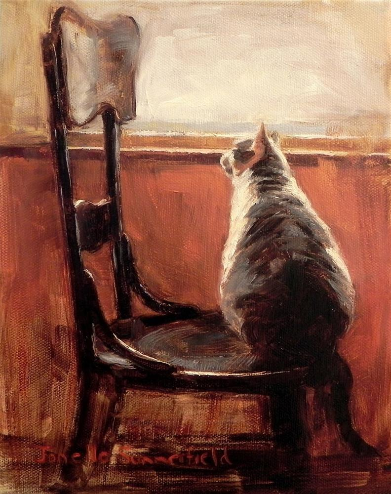 """On the Edge of His Seat"" original fine art by Jonelle Summerfield"
